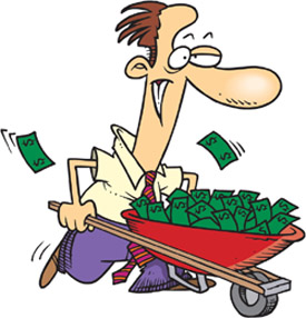 Win money cartoon images